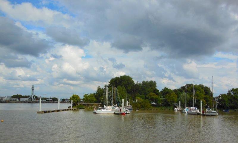 Port de plaisance et pointe de l'Ile de Nantes