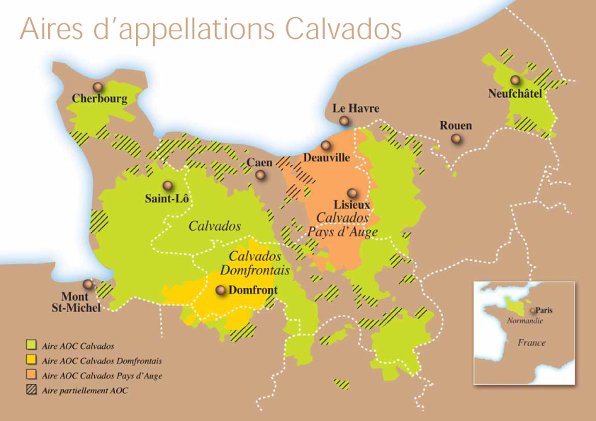 carte des appellations calvados