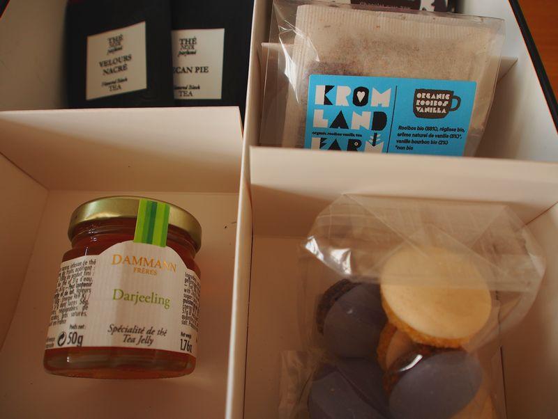 Contenu de la Thé Box - gourmandises