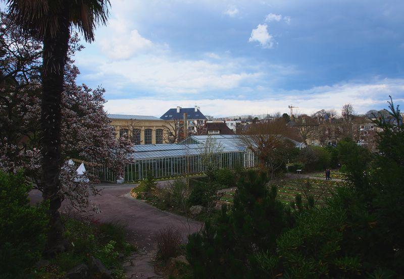 Vue sur le jardin des plantes