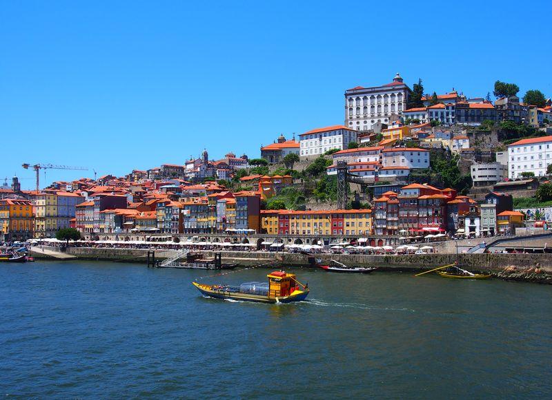 Vue sur la Ribeira de Vila Nova de Gaia