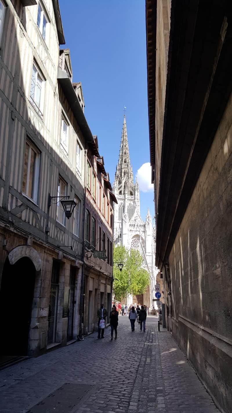 La Rue Saint Romain à Rouen